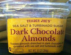 What's Good at Trader Joe's?: Trader Joe's Sea Salt & Turbinado Sugar Dark Chocolate Almonds