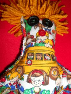 Your place to buy and sell all things handmade Bus Driver Gifts, School Bus Driver, Dammit Doll, Esty, Doll Crafts, Queen Bees, School Teacher, Animals For Kids, Crafts To Make