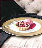 Cranberry-Pear Tartlets with Cranberry Ice Cream Recipe on Food & Wine