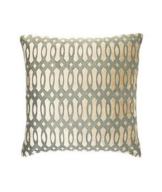 Helix Ink cotton-and-velvet pillow with feather-and-down fill (18 inches square), $129, roomandboard.com. <-love
