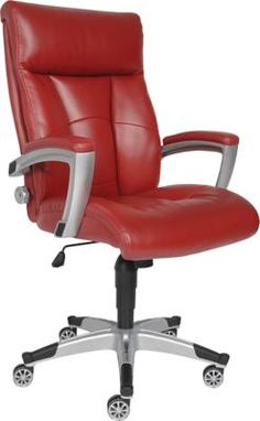 Shop Staples® for Sealy Roma Bonded Leather Executive Chair, Red. Enjoy everyday low prices and get everything you need for a home office or business. $299