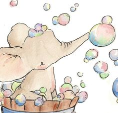 Absolutely adorable! Elephant bubble bath