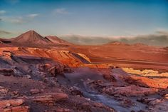 It would be amazing to see the sunset at the Valle De La Luna - the Valley of the Moon in the Atacama Desert Chile