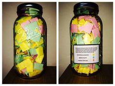 Wow. He gave her 365 quotes, thoughts, memories, song lyrics for his girlfriend in a jar for Christmas.  One for each day of the year. That's bad ass.