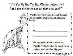 Teaching dr suess on pinterest dr seuss recording for Yertle the turtle coloring page