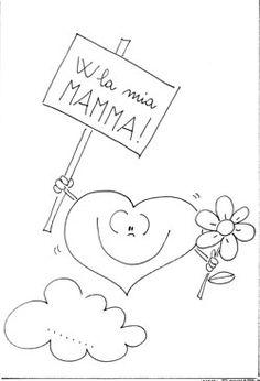 Disegni festa della mamma da Colorare e Stampare - Disegni da Stampare e Colorare