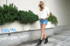 """Denim shirt"" new look Check out more on our blog: http://smilewithstyle1.blogspot.cz/2013/09/denim-shirt.html"