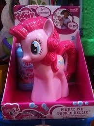 My Little Pony Pinkie Pie Bubble Bellie by Imperial Toys, http://www.amazon.com/dp/B0058U6P1A/ref=cm_sw_r_pi_dp_cLRgqb1E8T30Z