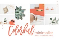 6 Stock Images | Colorful & Minimal by TwigyPosts on @creativemarket
