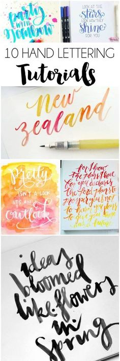10+ Hand Lettering Tutorials   dawnnicoledesigns.com