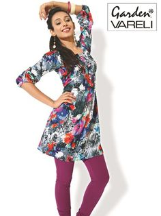 Buy #Floral Revelry Cotton #PrintedKurti at Rs.800.25/-