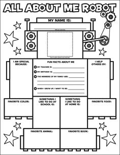 All About Me Coloring Pages Picture First Day of School