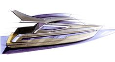 Motorboat sketches | Tony Castro Yacht Design