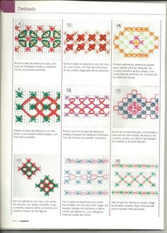 Discover thousands of images about Borders - Cross Stitch borders for inspiration Ribbon Embroidery, Cross Stitch Embroidery, Embroidery Patterns, Cross Stitch Patterns, Chicken Scratch Patterns, Chicken Scratch Embroidery, Bordado Tipo Chicken Scratch, Girl Scout Crafts, Bargello