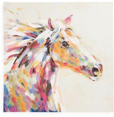 28x28 Horse Canvas Wall Art