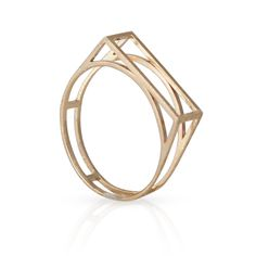Open Bar Ring in 14K Yellow Gold