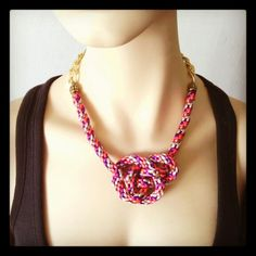 Collar Luvjan colors & chain de seda www.facebook.com/bycosmicgirl