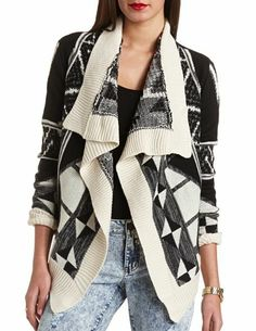 Cascade Aztec Cardigan Sweater: Charlotte Russe