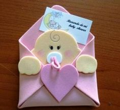 Risultati immagini per hacer invitaciones para bautizo Baby Shower Crafts, Baby Crafts, Baby Shower Parties, Felt Crafts, Baby Boy Shower, Baby Shower Decorations, Diy And Crafts, Moldes Para Baby Shower, Shower Bebe