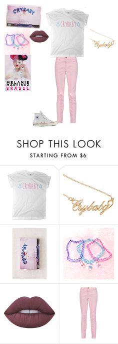 """Crybaby(for Wattpad)"" by hellokitty-780 on Polyvore featuring Urban Outfitters, Lime Crime, Current/Elliott and Converse"