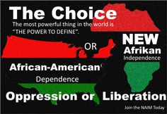 The CHOICE: African American or New Afrikan (Oppression or Liberation), f. the Honorable Dr. Amos Wilson http://rbgstreetscholar.wordpress.com/2014/09/01/the-choice-african-american-or-new-afrikan-oppression-or-liberation/