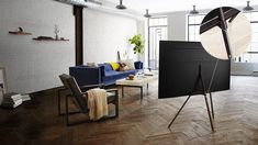Studio Stand for & Q Series TVs Television & Home Theater Accessories - Framed Tv, Home, Home Theater, Home Theater Furniture, Innovation Design, Theater Furniture, Home Theater Speakers, Finding A House, Kit Homes
