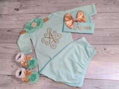 baby girl coming home outfit girl newborn baby by SweetnSparkly