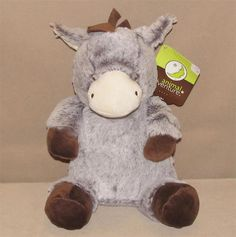 "Animal Adventure Gray Brown Horse Donkey Plush Stuffed Animal Toy 12"" NWT Short #AnimalAdventure"