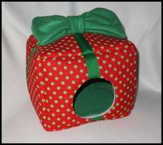 Small Christmas Present  Soft and Cozy by Bloominpetproducts, $30.00
