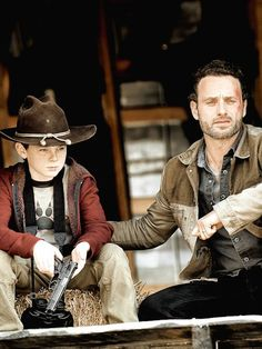 The Walking Dead, look Carl...not in the house.. ;)