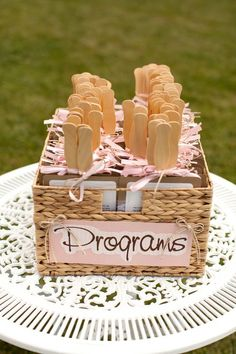 fan programs helped guests beat the heat for the June wedding / http://www.himisspuff.com/summer-wedding-ideas-youll-want-to-steal/