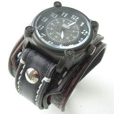 jewellery, gift for him, leather watch, leather bracelet, vintage jewelry, fashion jewelry, bracelets, bracelet watch, wrist watches, watches, Watch , wristwatch , Man ,