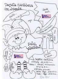 Resultado de imagen para moldes de duendes navideños