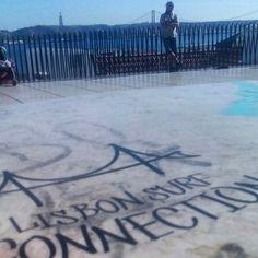 Adamastor, um dos muitos miradouros em Lisboa!  Adamastor, one of the many viewpoints in Lisbon!   #lisbonsurfconnection #LSC #adamastor #surftours #surfschool #rentals #surf #lisboa #lisbon #surfday #viewpoint #miradourodoadamastor #tourismportugal #tourism #visitportugal #turismodeportugal
