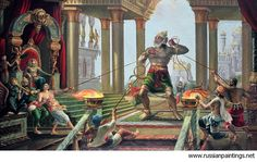 Hanuman in the Palace of Ravana by Vrndavan Das