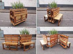modular pallet bench