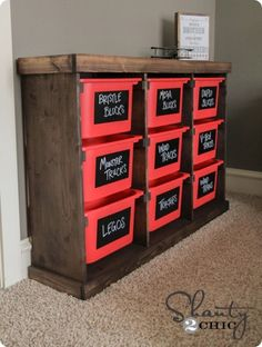Tame Those Toys with a DIY Storage System {inspired by IKEA Trofast}