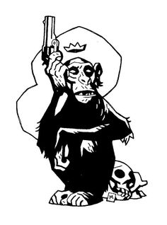 Monkey with a Gun by Mike Mignola *