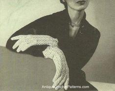 Free crochet lace gloves pattern - easy step-by-step instructions  included for crocheting this pair of lace gloves.