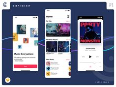 Deep iOS 13 Design Kit Beta designed by Capi Creative. the global community for designers and creative professionals. Mobile App Ui, Mobile App Design, App Design Inspiration, Monster Party, Jobs Hiring, Ui Kit, Saint Charles, Show And Tell, Ui Design
