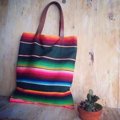 Serape Blanket Tote/ Mexican Blanket/ Navajo by TealSuede on Etsy, $58.00