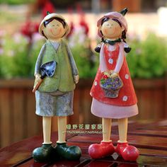 Rustic resin doll lovers decoration crafts wedding gift home decoration