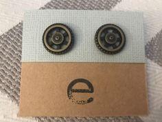 Bronze Toned Wheel Earrings by Gingerproducts on Etsy https://www.etsy.com/listing/508014171/bronze-toned-wheel-earrings