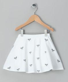 72cb609c2bb White Tennis Crisscross Skort - Girls by Tail Activewear on  zulily Skort