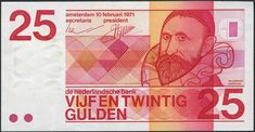 25 gulden Nederland, 1970-1990, Jan Pieterszoon Sweelinck, componist en organist.