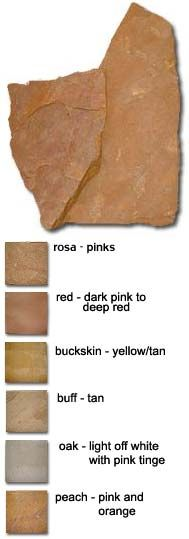 description quartzite flagstone that is hard and shiny gold and
