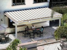 Pergola Canopies and awnings by ShadeTree, ShadeFX, and ShadeRight