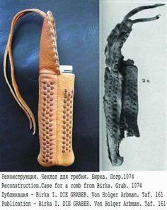 Comb case, leather Birka Bj 1074 (Sweden) - reconstruction