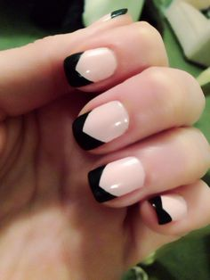My black french tip nails!