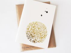 Dotted Gold Notebook from Bailey Doesn't Bark.
